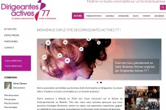 Refonte du site associatif Dirigeantes Actives 77