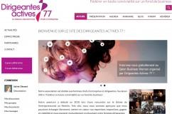 Refonte du site associatif Dirigeantes Actives 77