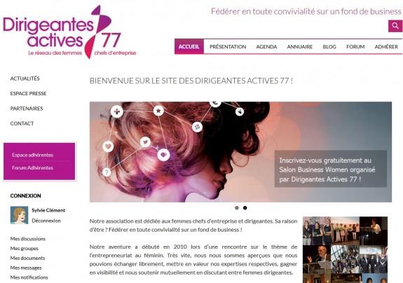 La page d'accueil du nouveau site DA 77
