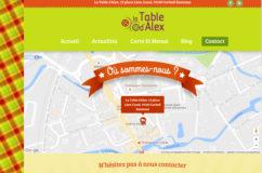 Site du restaurant la Table d
